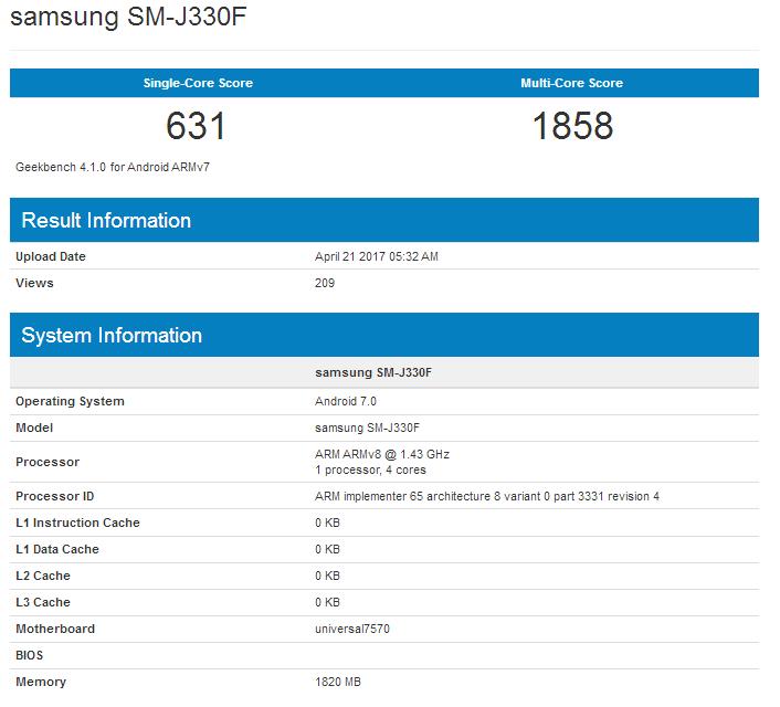 Samsung Galaxy J3 (2017) 2