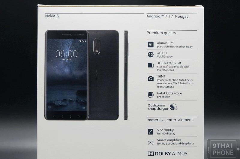 รีวิว Nokia 6 ลำโพงคู่ Dolby Atmos บอดี้สวยพรีเมียม RAM 3GB รัน