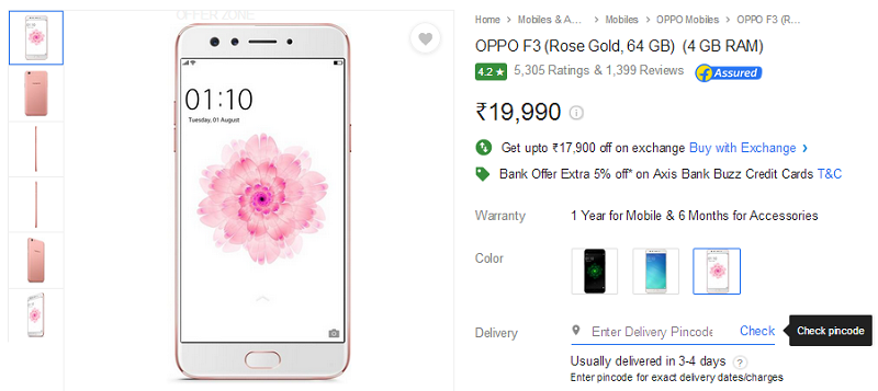 OPPO F3 Rose Gold Edition_3