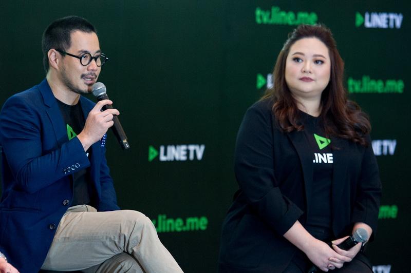 7 กวิน ตั้งอุทัยศักดิ์ และ พัลภา มาโนช ร่วมพูดคุยบนเวที เกี่ยวกับทิศทางของ LINE TV