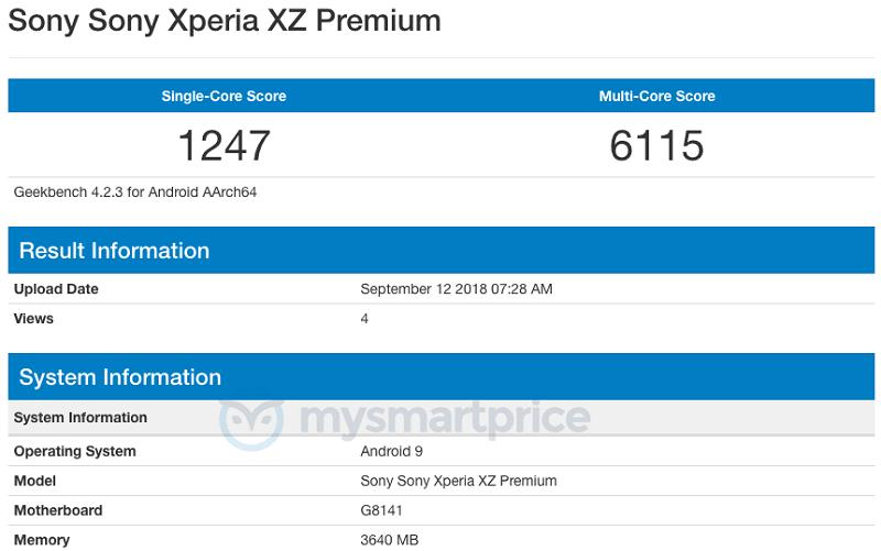 Xperia-XZ2-Premium-Geekbench
