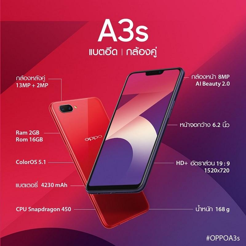 A3s-spec_Ram2GBRom16GB