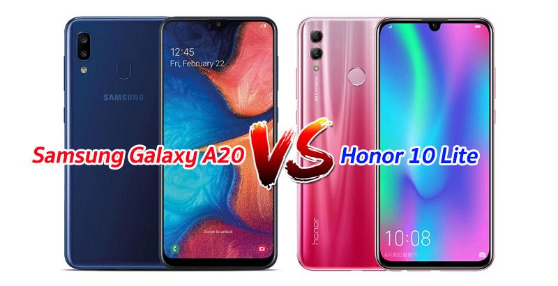 Samsung Galaxy A20 vs Honor 10 Lite