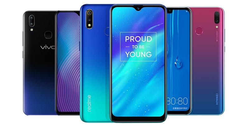 realme 3, vivo Y91, Huawei Y9 2019