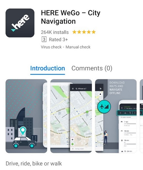 Here WeGo available on AppGallery