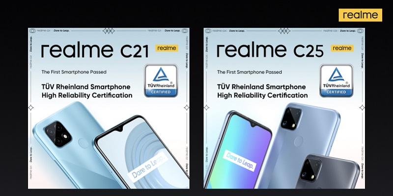 realme C21 & realme C25